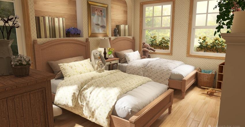 english countryside cottage.  Interior Design Render