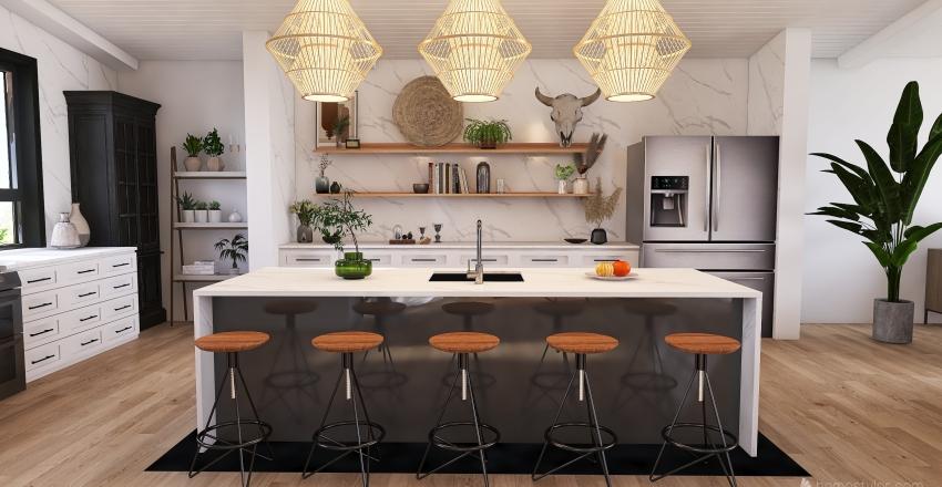 Coastal Calgary Home Interior Design Render