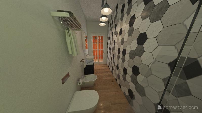 APP A palaz 1:giardino,2 camere,2 bagni,living  dining room Interior Design Render