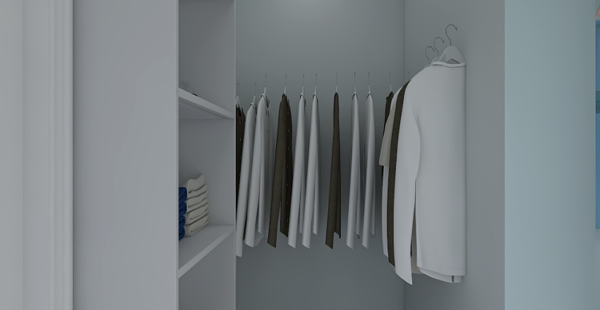 Barker Bathroom and WIC Interior Design Render