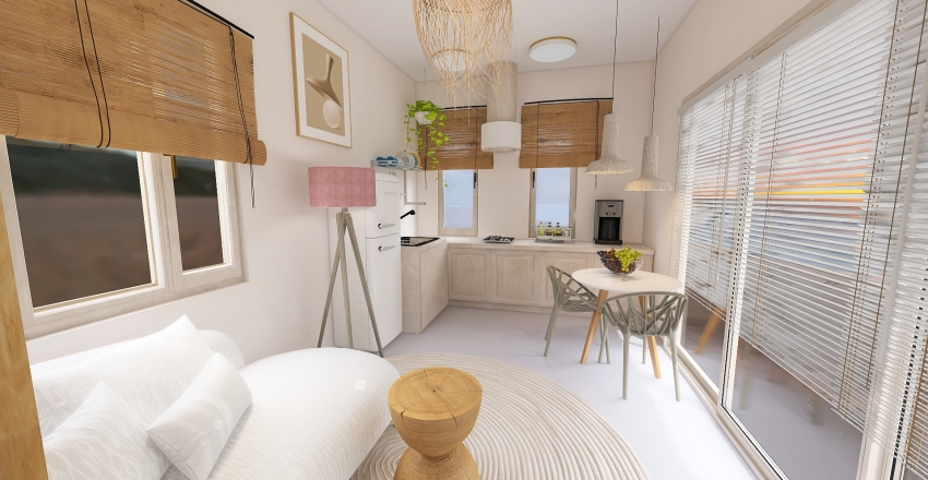 Micro Home Interior Design Render