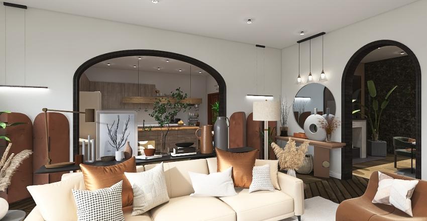 Cozy home living Interior Design Render