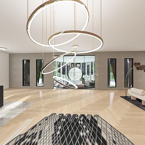 Structure and Sculpture Interior Design Render