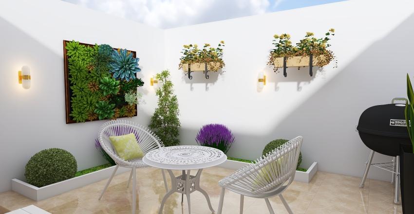 Diseño de Patio Interior Design Render