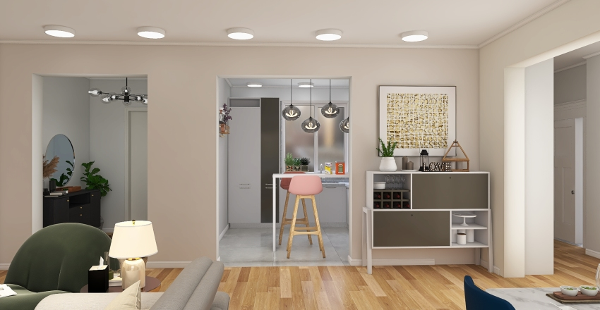 Home for a joung couple  Interior Design Render