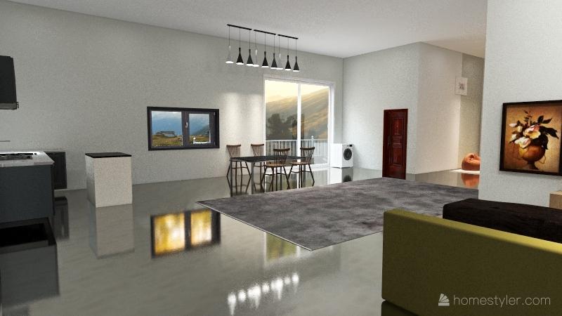 moon Interior Design Render