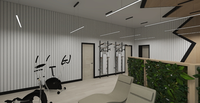 Rest room for the workshop with tailoring of outerwear Interior Design Render