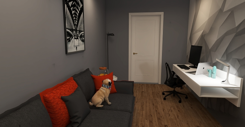 Azmi's garage Interior Design Render