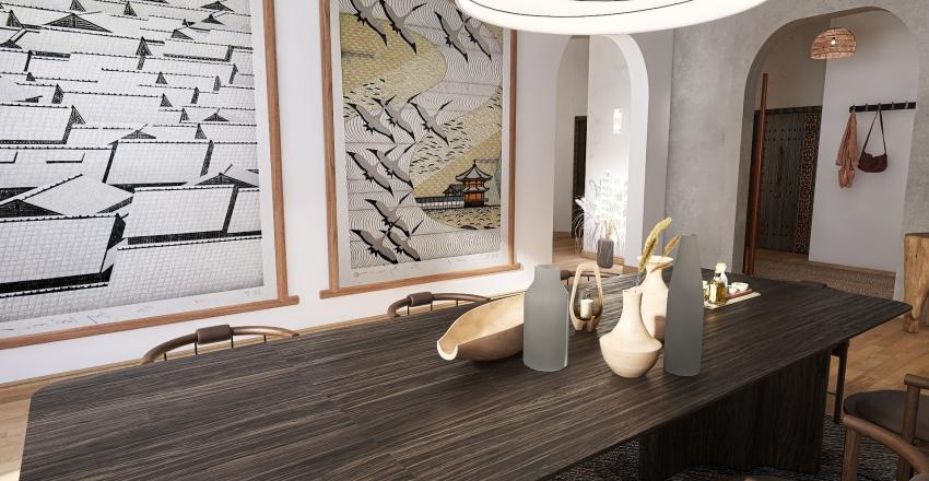 Wabi Sabi Interior Design Render