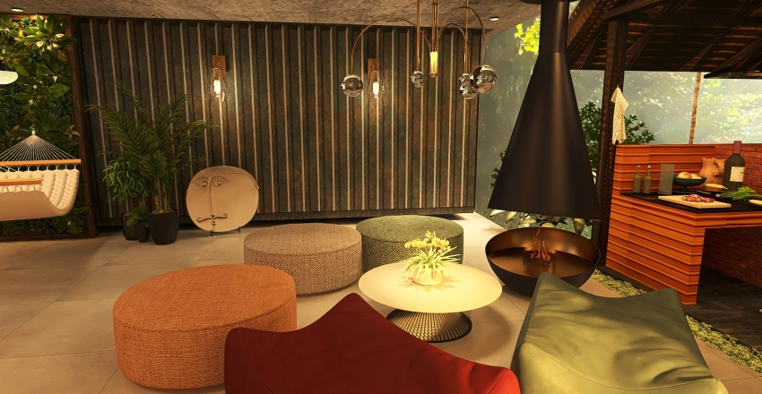 Fun Modern Interior Design Render