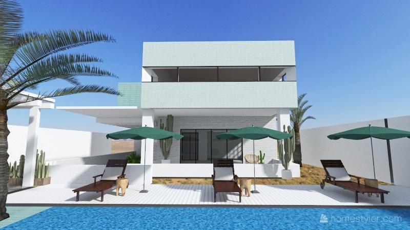 house w Interior Design Render