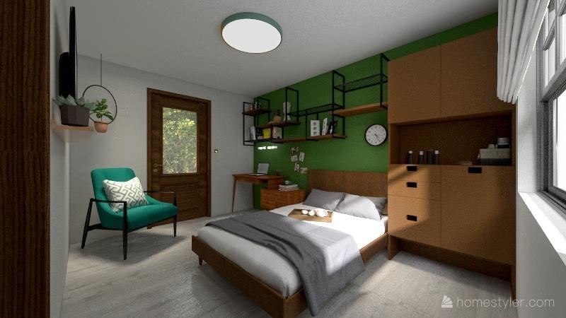 recamara Luis Interior Design Render