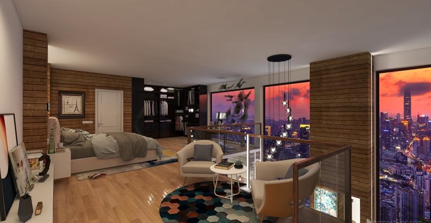 T Loft  Milano Interior Design Render