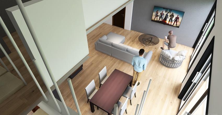 Copy of CASA 14MTS gradas a la derecha 15abr021 CON TERRAZA Interior Design Render