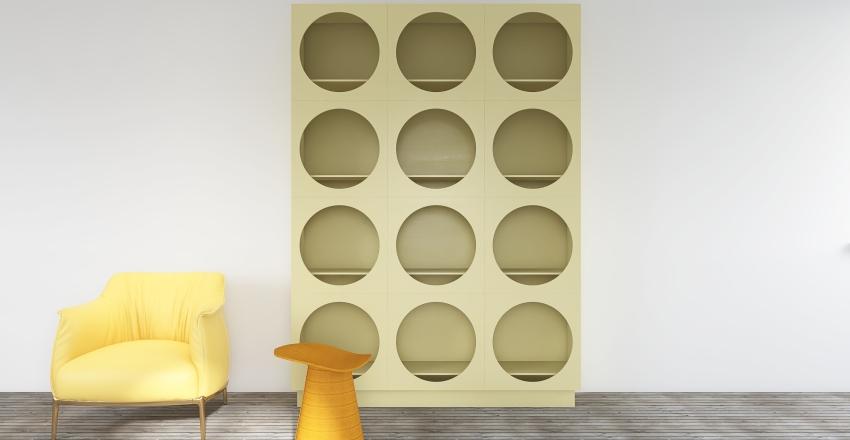 Lemon Yellow Room Interior Design Render