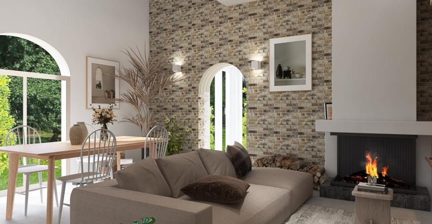 Sweet little home Interior Design Render