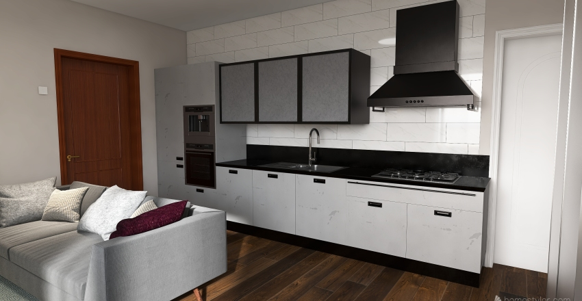 Small house, two bedroom Interior Design Render