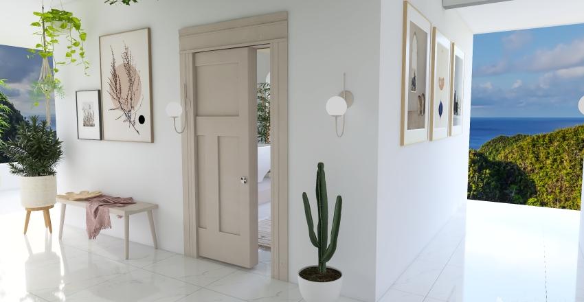 mediterranean house. Interior Design Render