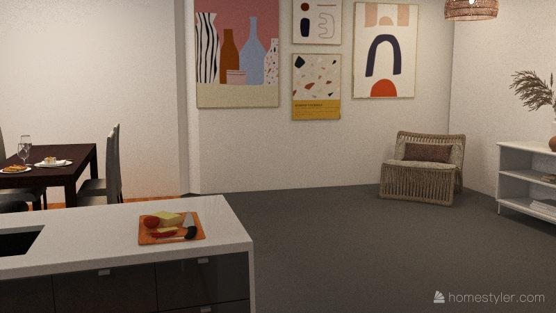 barn Interior Design Render