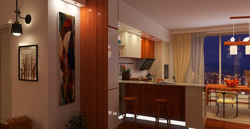 Ярким по белому Interior Design Render