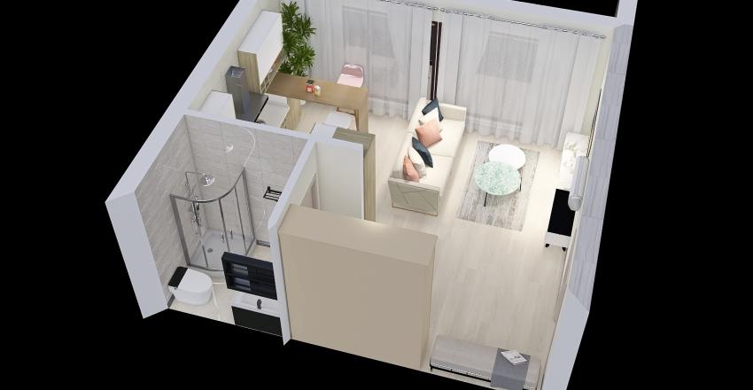 двуспальное месть 1 к Interior Design Render