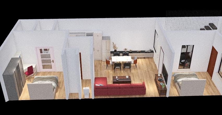 Shyamnagar with Stairs inside Interior Design Render