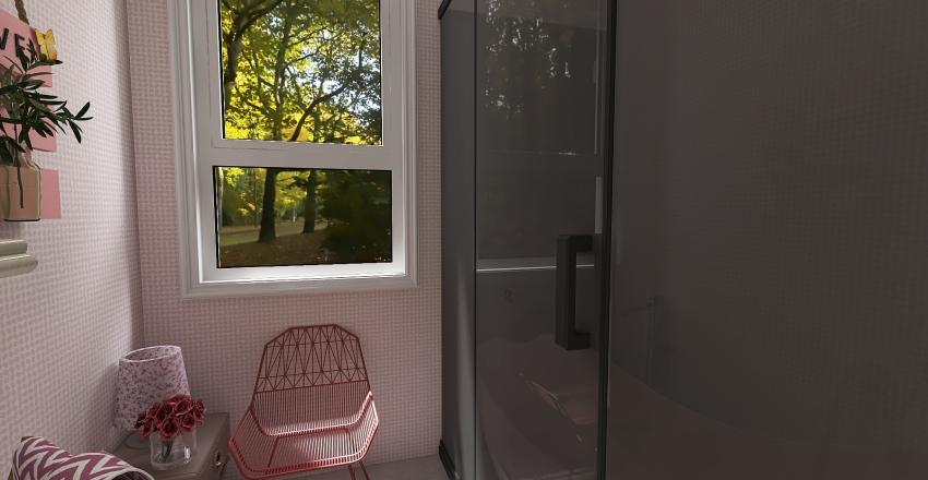Pink Bathroom  Interior Design Render