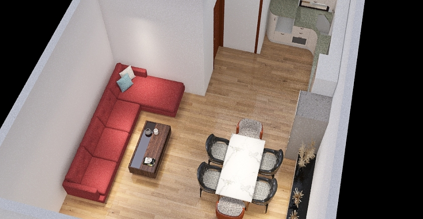 Shyamnagar with bed Interior Design Render