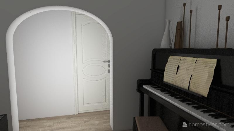 2 Bed 1 Bath Unit ] Interior Design Render