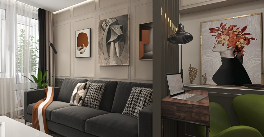 ул. Бакинская 7 Interior Design Render