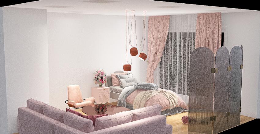 blush lemonade and flamingo Interior Design Render