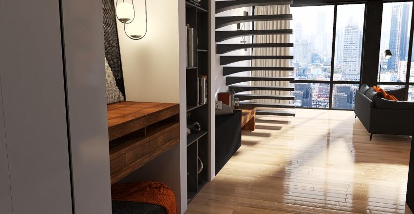 Industrial Loft Apartment Interior Design Render
