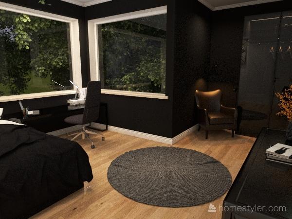 dom rodzinny w stylu klasycznym Interior Design Render