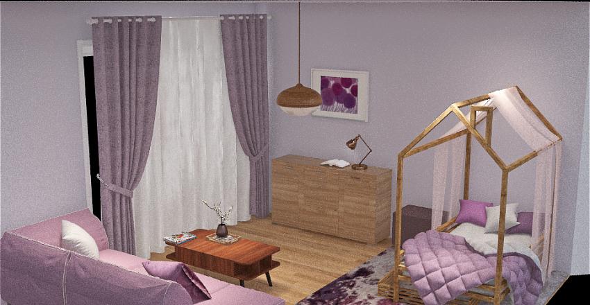 lilac lavender and iris Interior Design Render