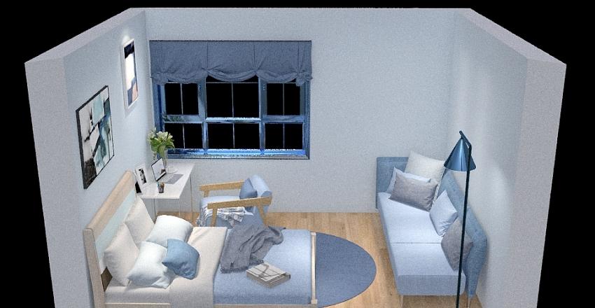 lightsky cornflower and windows Interior Design Render