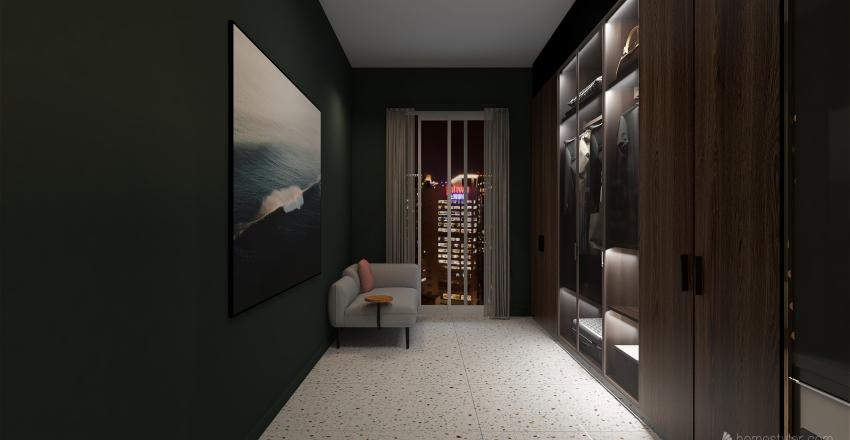 BEDROOM W/ CLOSET Interior Design Render