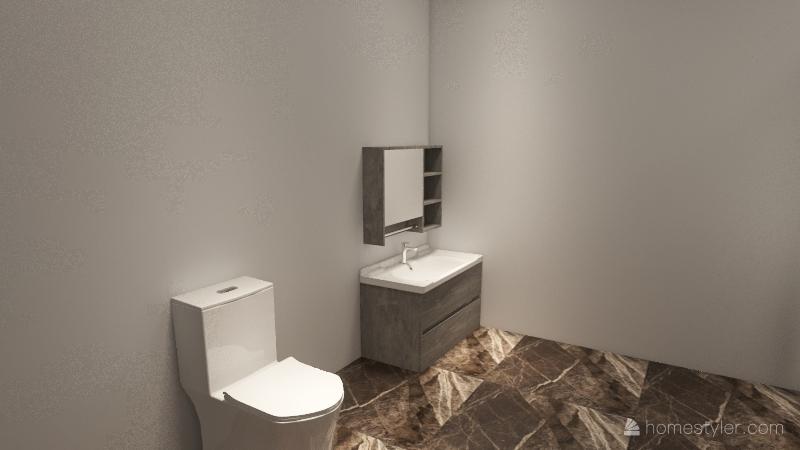 2 beds 1 bath Interior Design Render