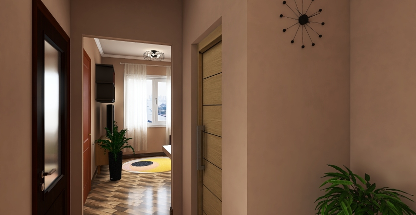 1-Bedroom Condo V2 Interior Design Render