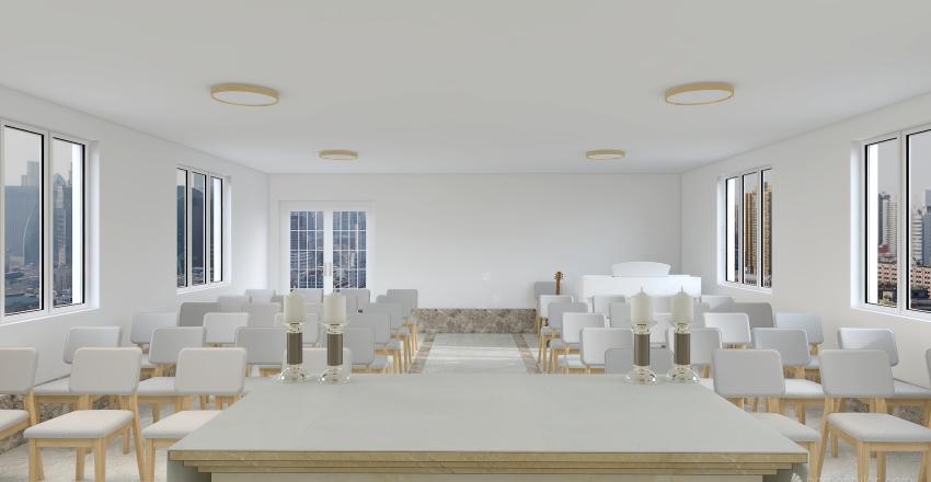 Capela Seminário Interior Design Render