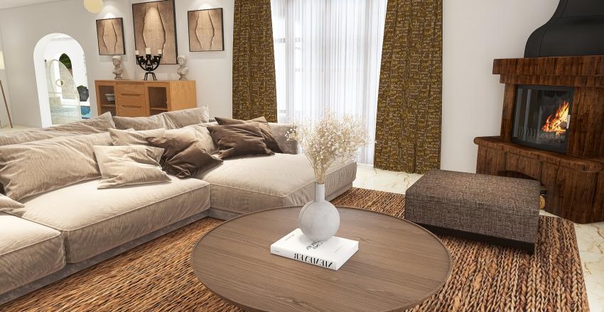 maison de la plage Interior Design Render