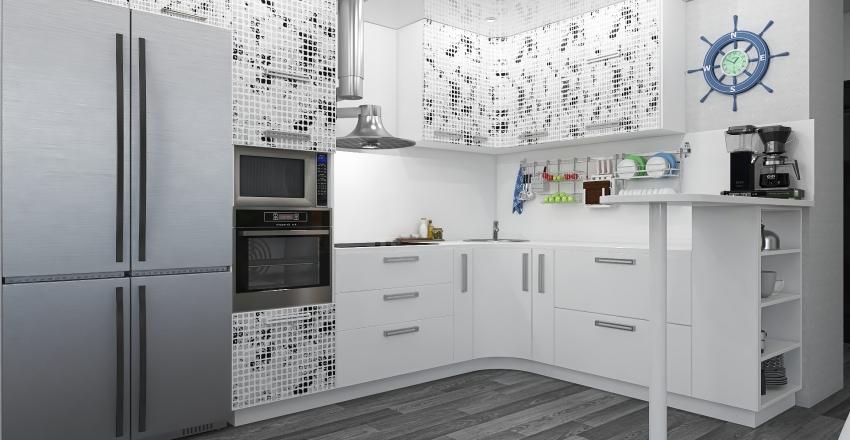 Compact living Interior Design Render