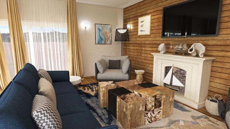 Nantucket Get-Away Interior Design Render