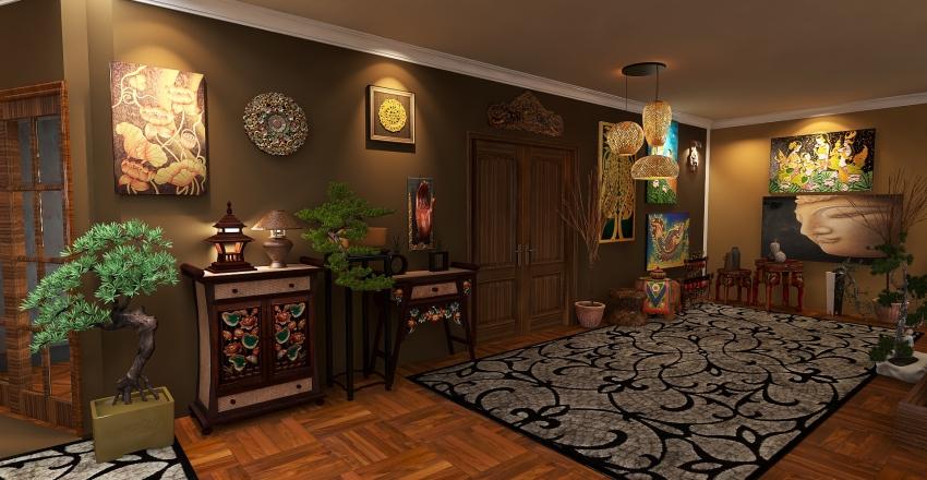 casa oriental... Interior Design Render