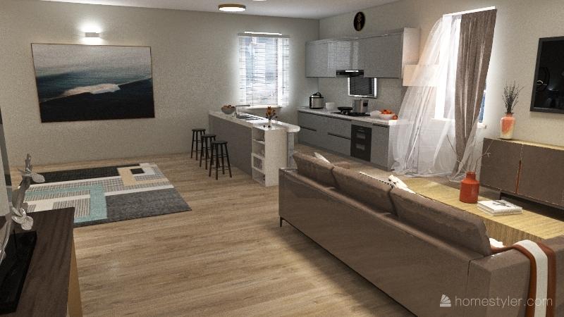 Modern-Fancy Dorm Interior Design Render