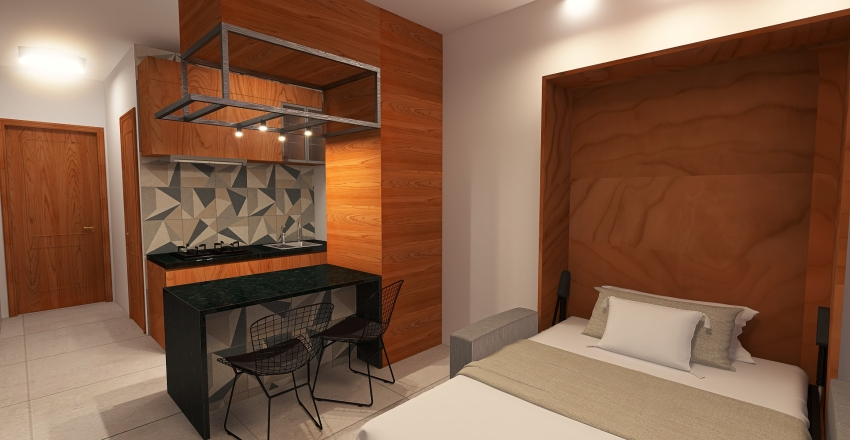 Apartamento Porto del Mar Interior Design Render
