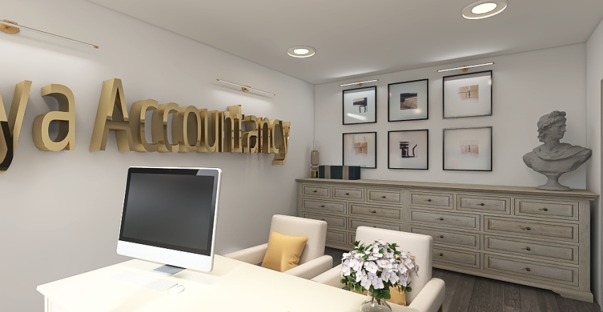 Private Accountancy Office in the City Interior Design Render