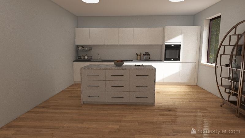 Cozy cottage Interior Design Render