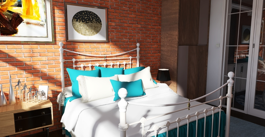 Loft in beach  bay Interior Design Render