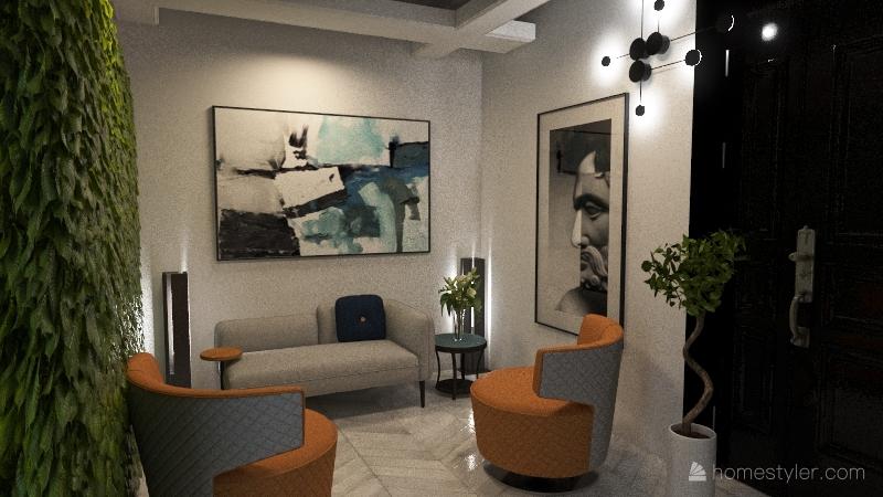 villa A via ROSELLI Forte dei Marmi NARDI Interior Design Render