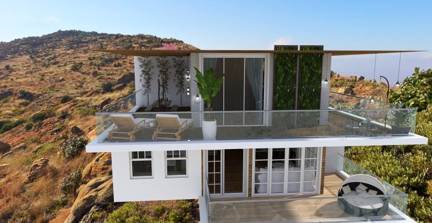 California familiy villa Interior Design Render